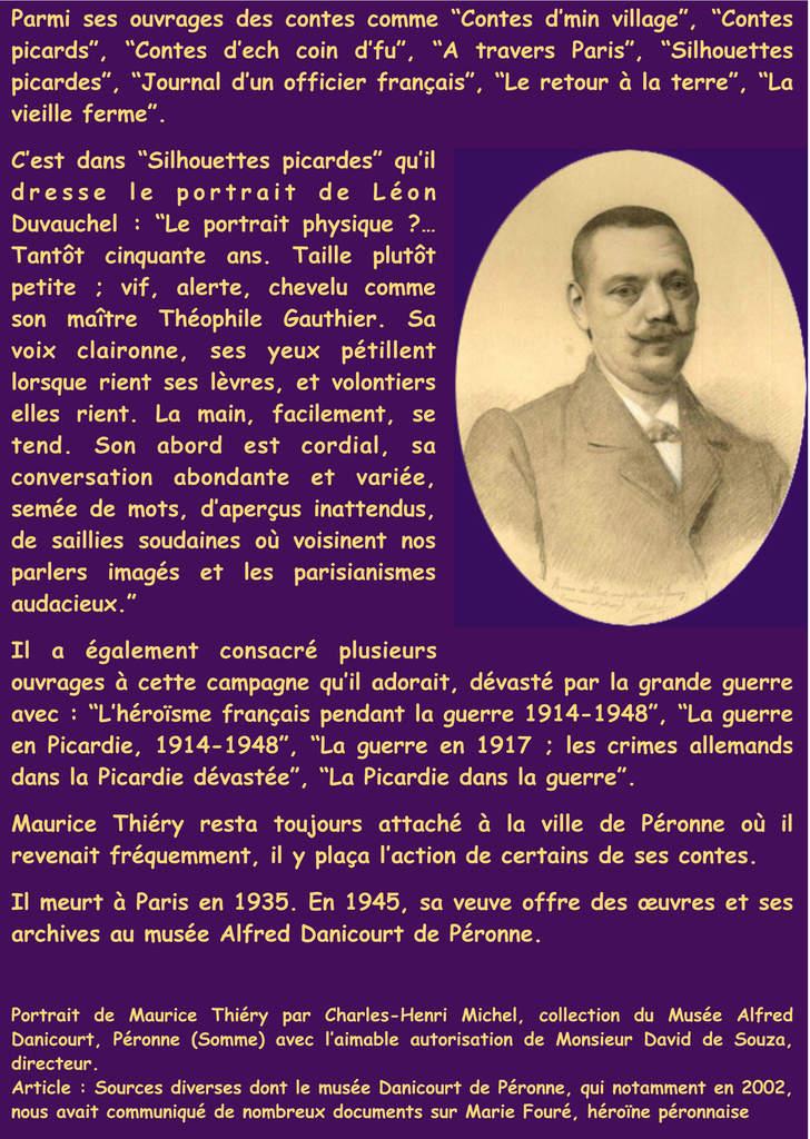 Maurice Thierry ami de Léon Duvauchel