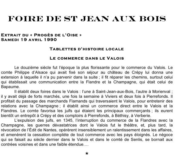 Foire de St Jean aux Bois