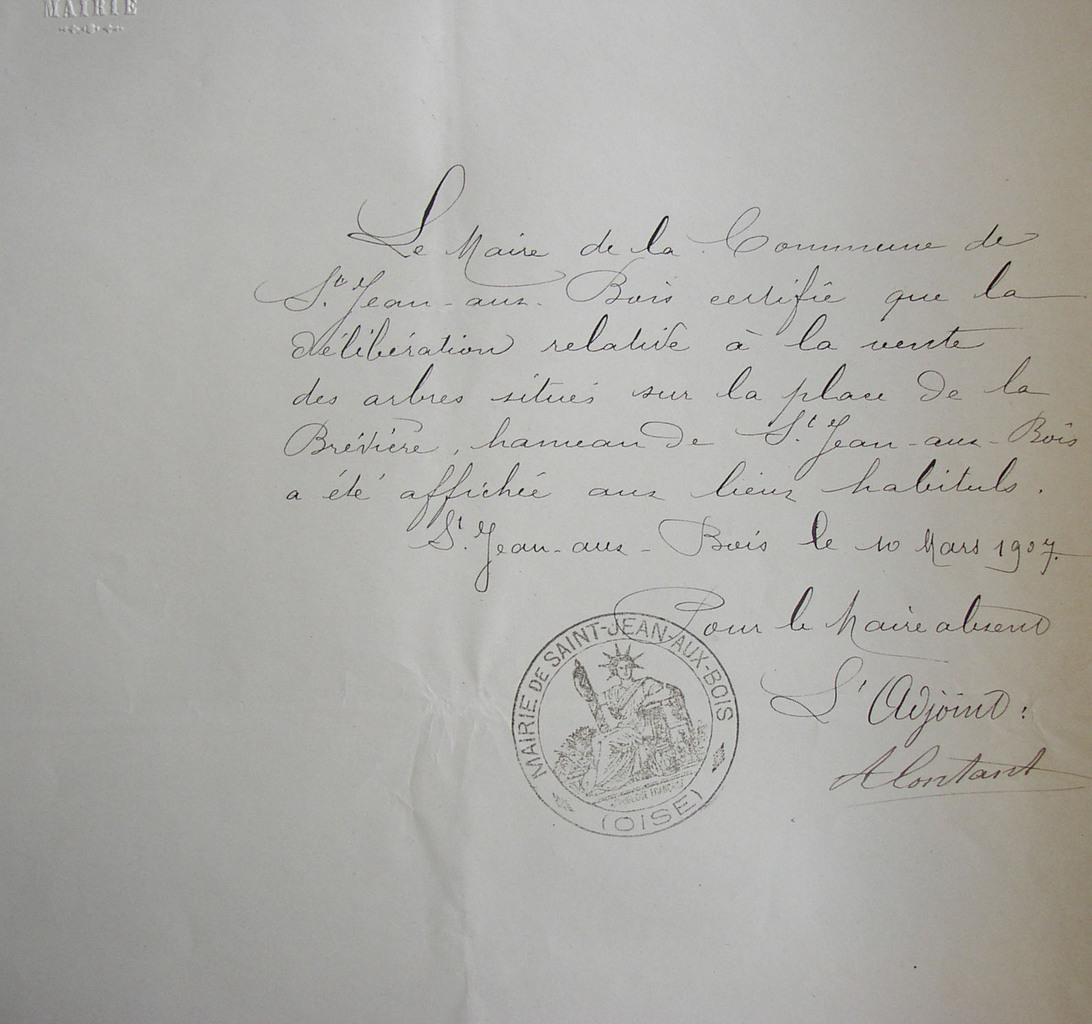 Certification par le maire de la publication de la délibération