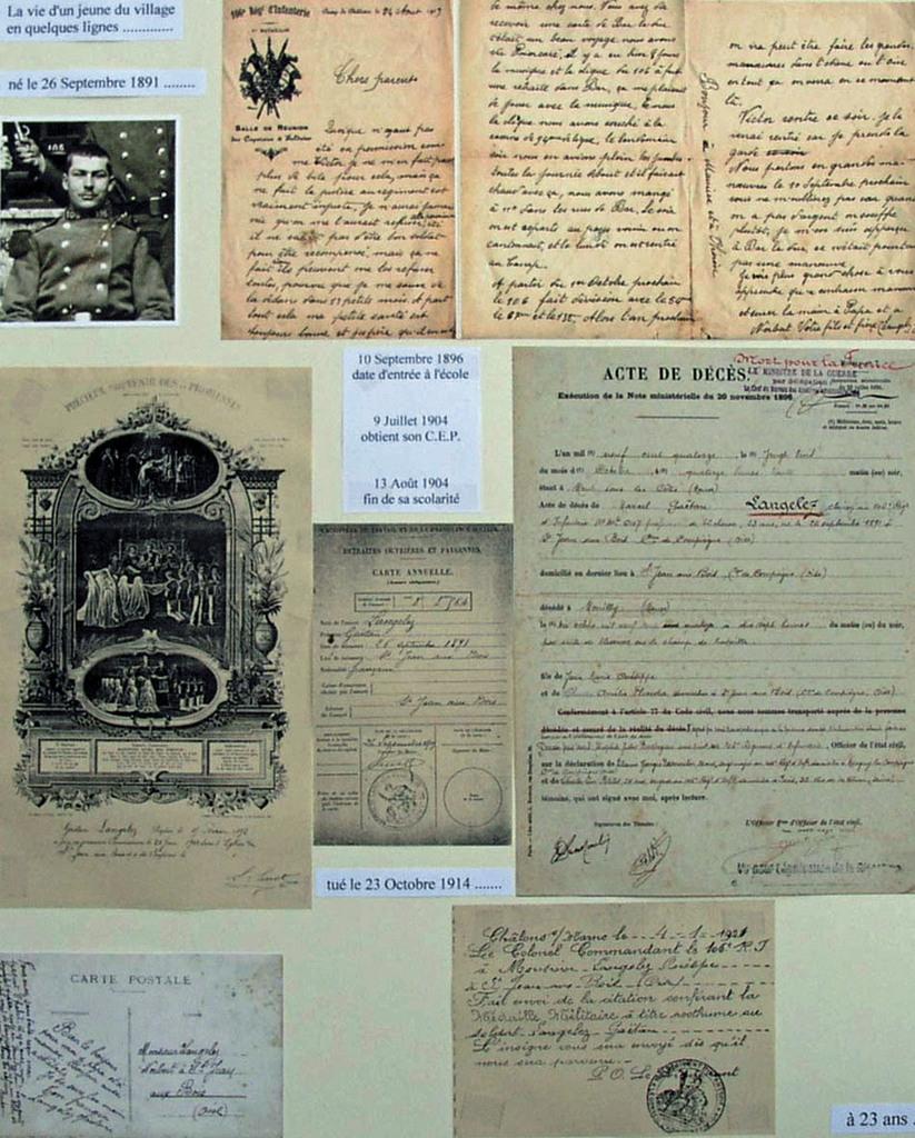 """Copie de la planche qui avait été p lors de l'exposition """"Un siècle à Saint-Jean""""résentée"""