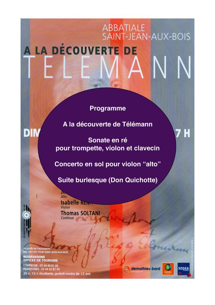 Telemann en l'abbatiale