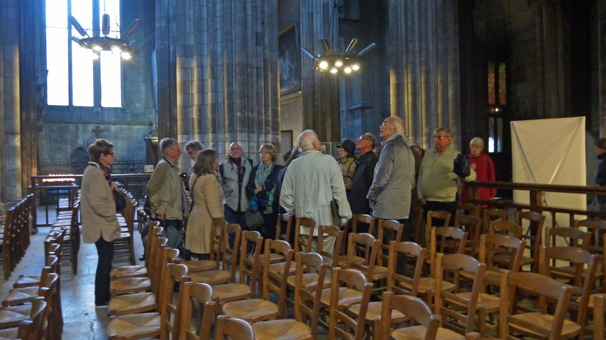 A l'intérieur de la cathédrale Notre-Dame de l'Assomption.