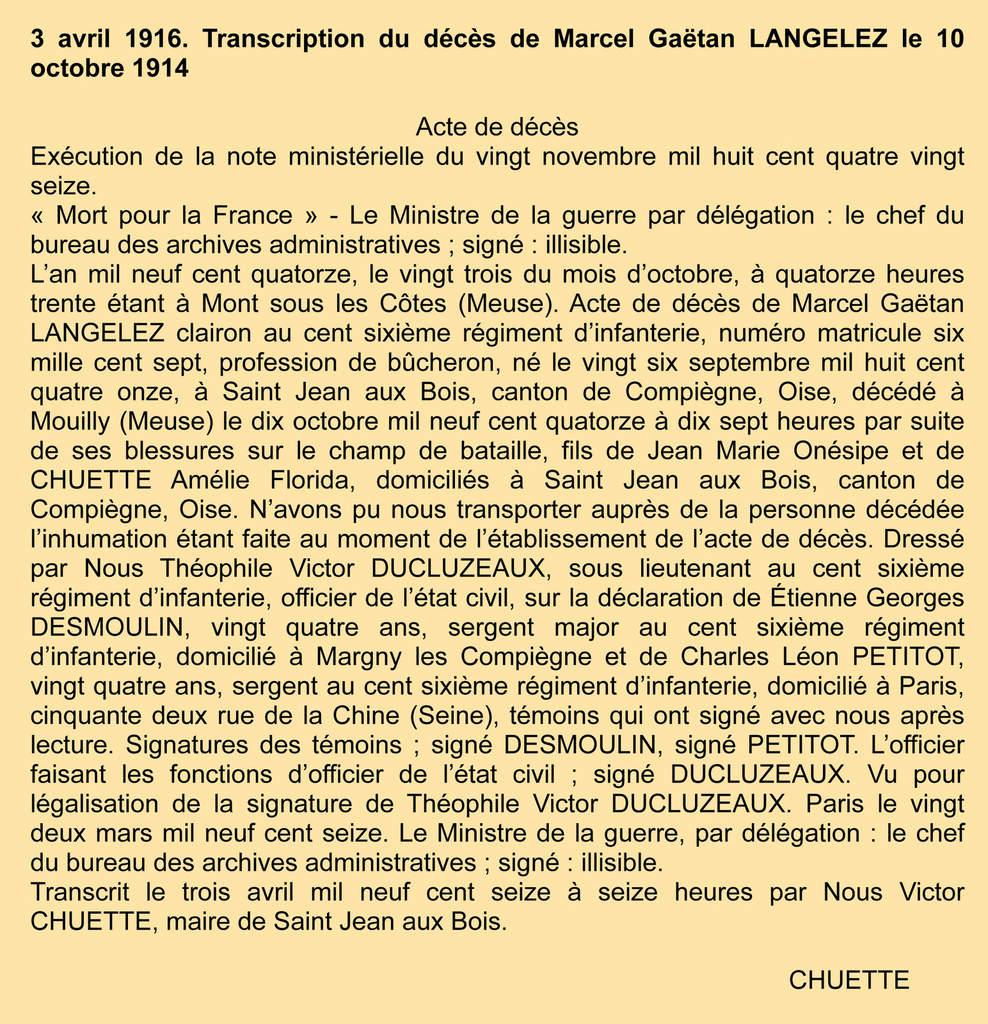 LANGELEZ Marcel Gaëtan