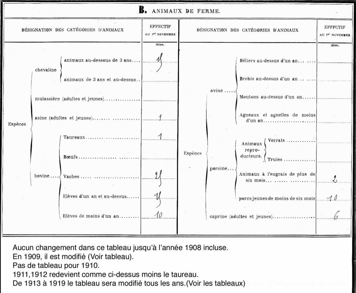 Statistiques agricoles (de 1904 à 1919) (suite)