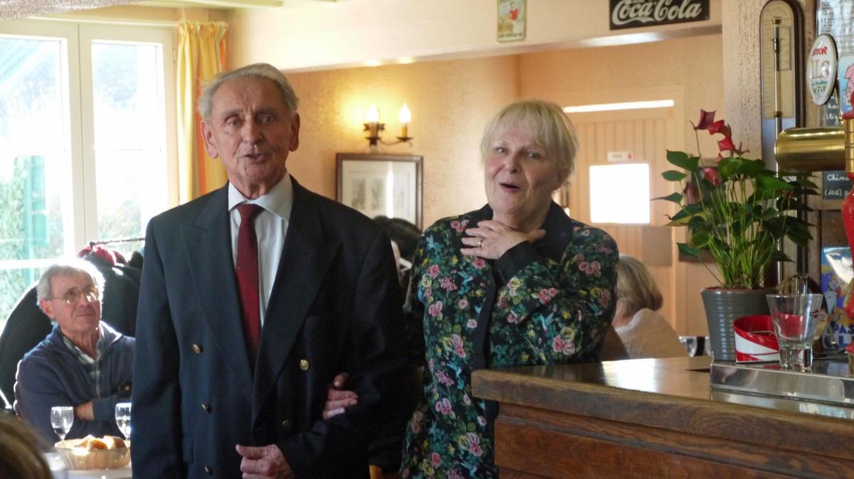 Françoise Böhm et Jacques Lecomte avec Emile Carrara