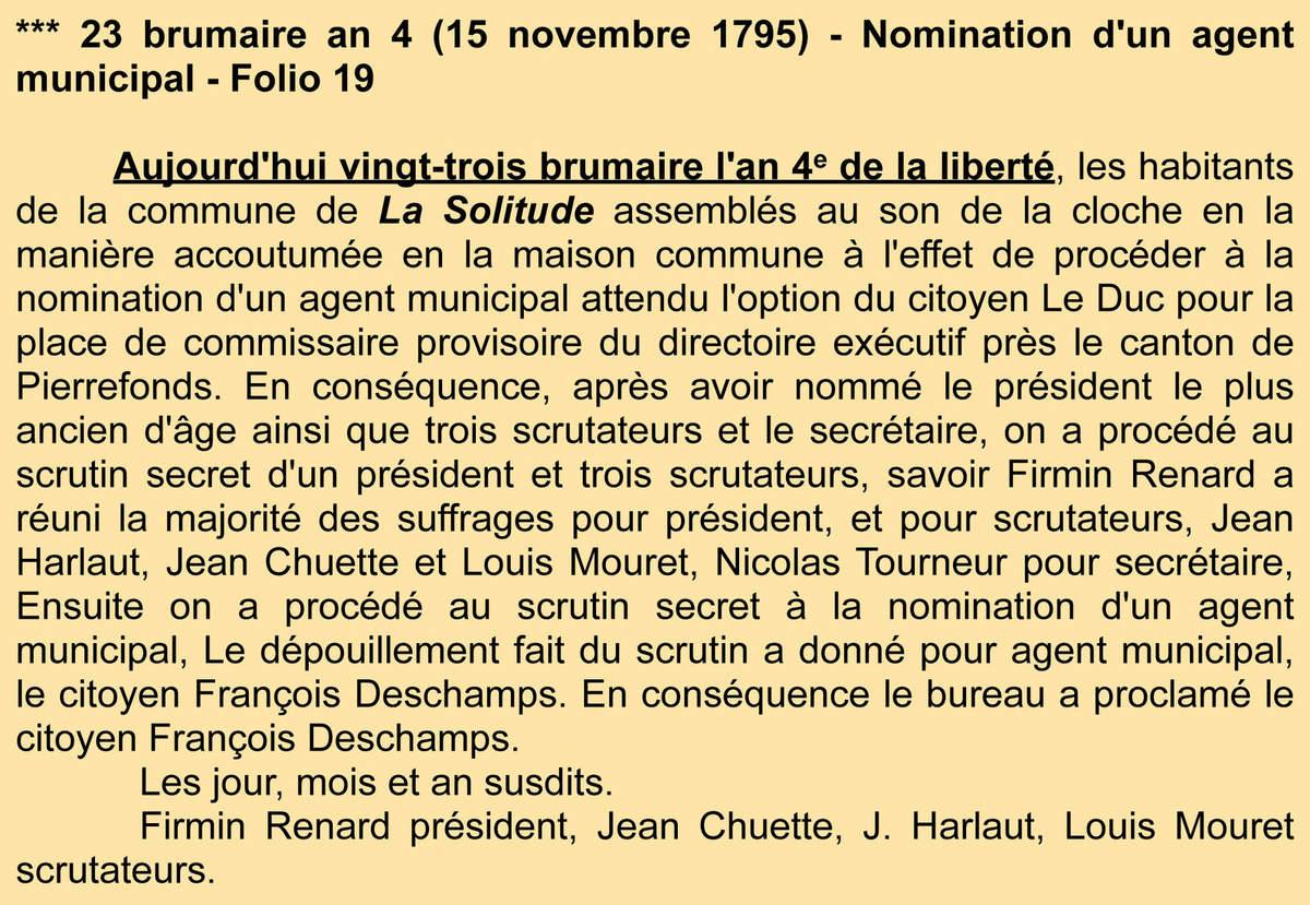 Deuxième nomination Archives communales - Registre de délibérations 1 D 3