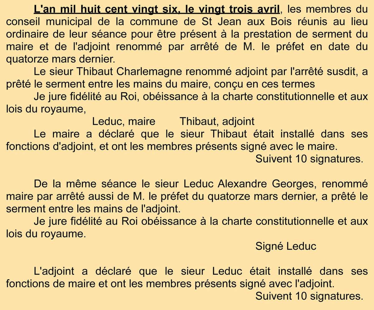 Archives communales Série K élections.