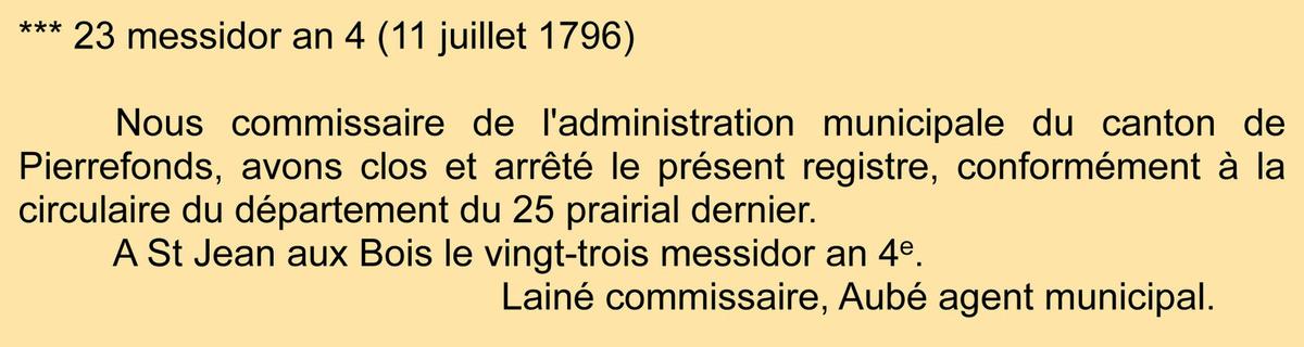 Clôture du registre - Archives communales - Registre de délibérations 1 D 3
