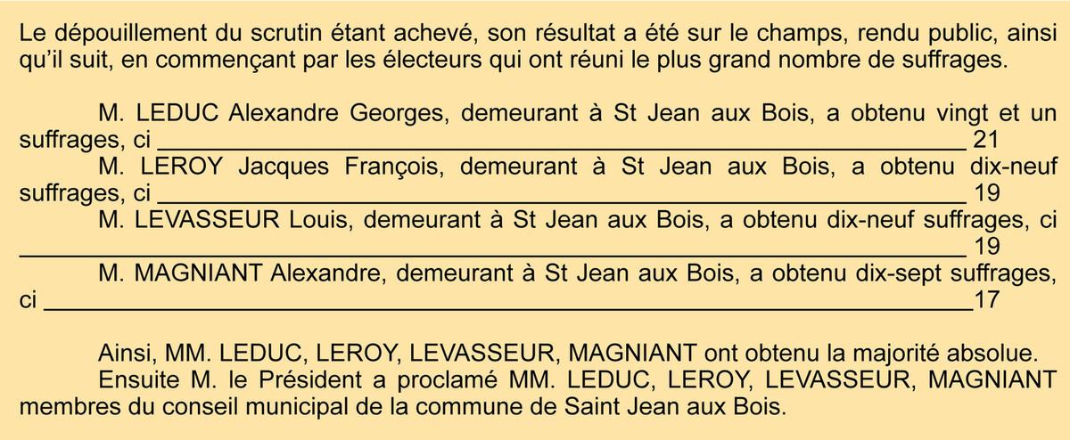 P.V. du 18 juin 1843. Registre des délibérations 1D5.