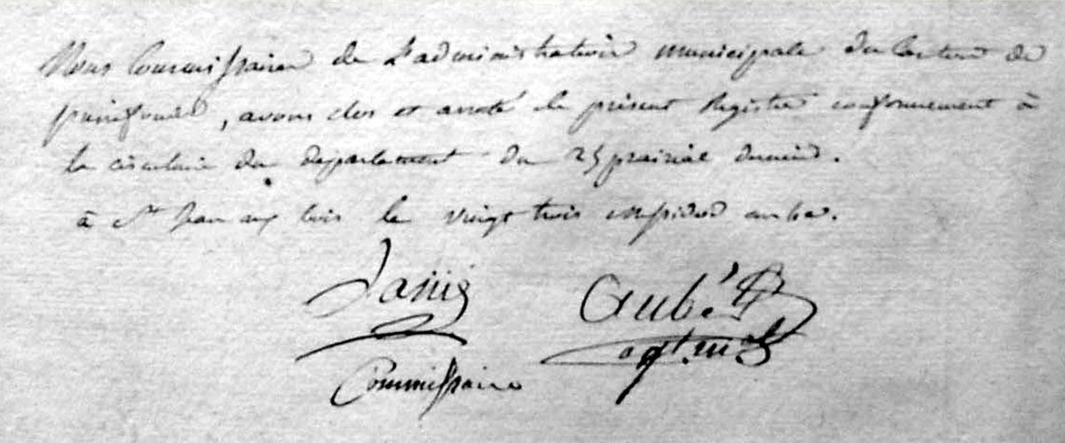 Archives communales - Registre de délibérations 1 D 3