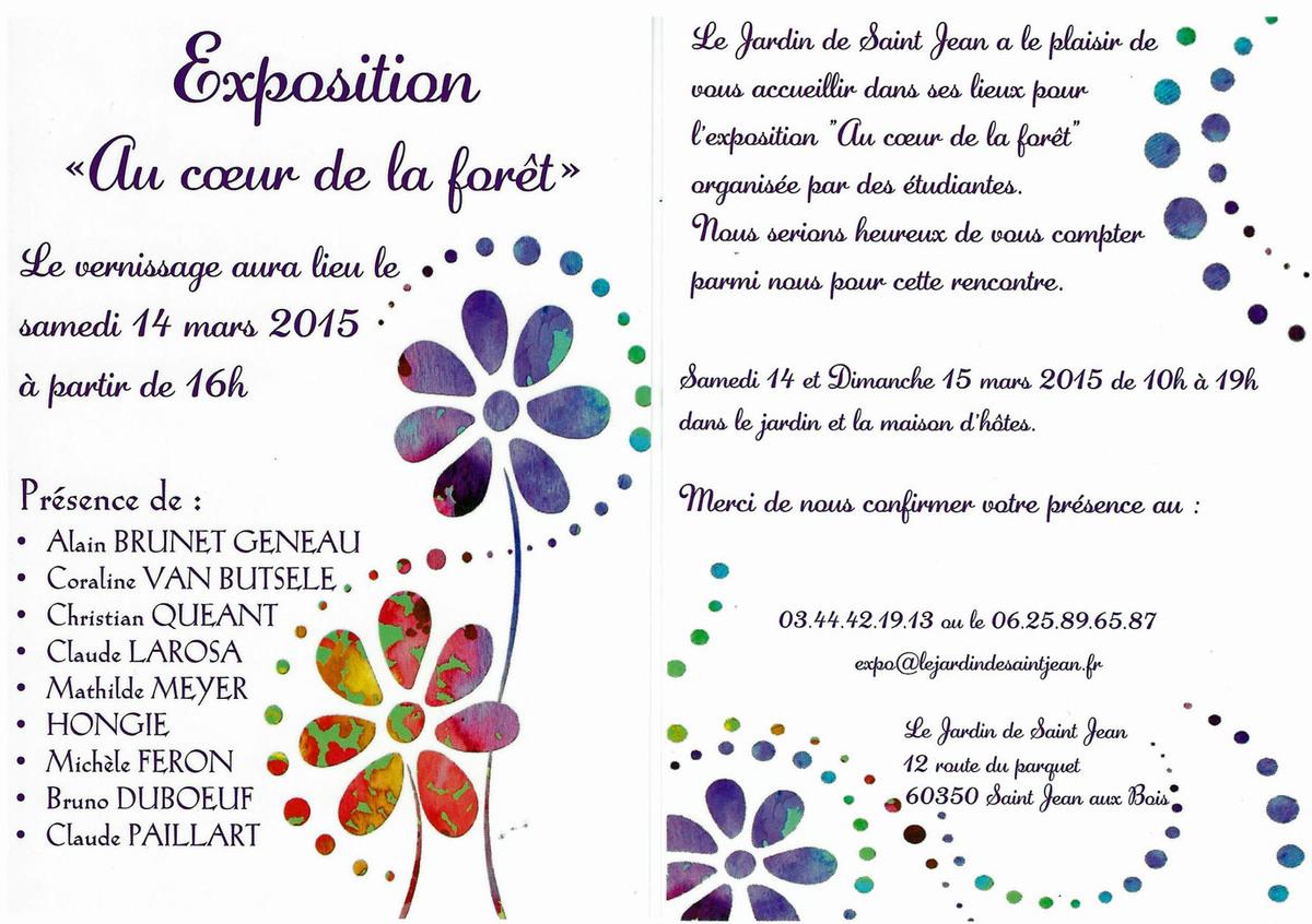 """Exposition au """"Jardin de Saint-Jean"""""""