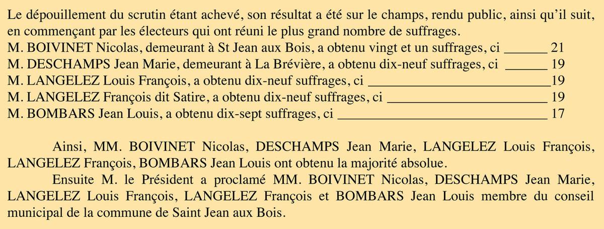 P.V. du 24 mai 1840. Registre des délibérations 1D5.