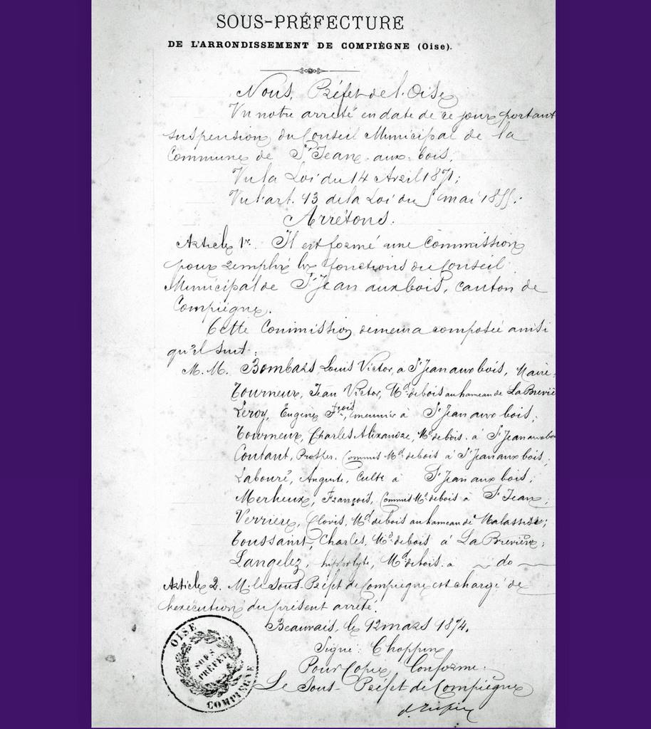 Commission - Archives communales – Série K Sous série 8 élections communales