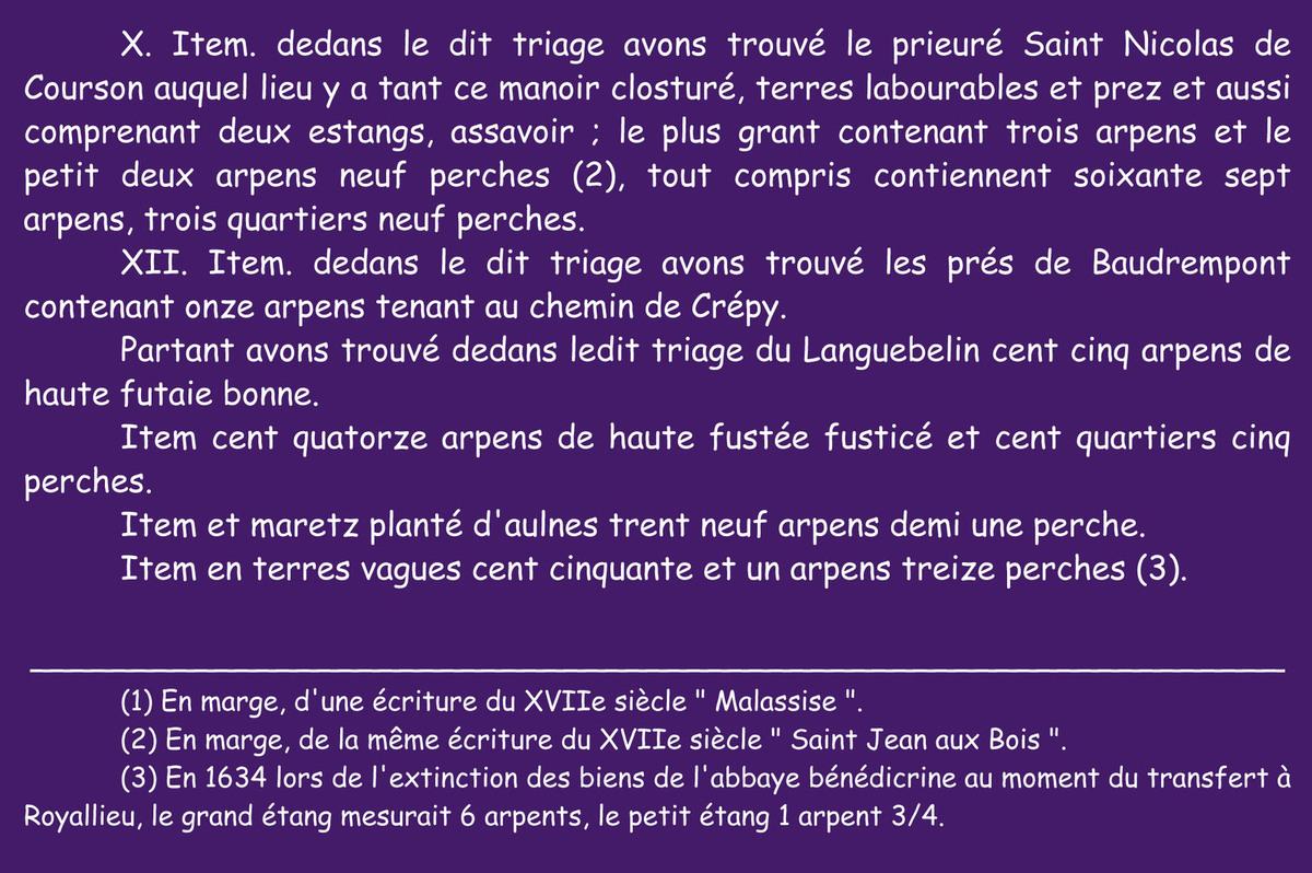 Les baux de Saint-Jean-aux-Bois