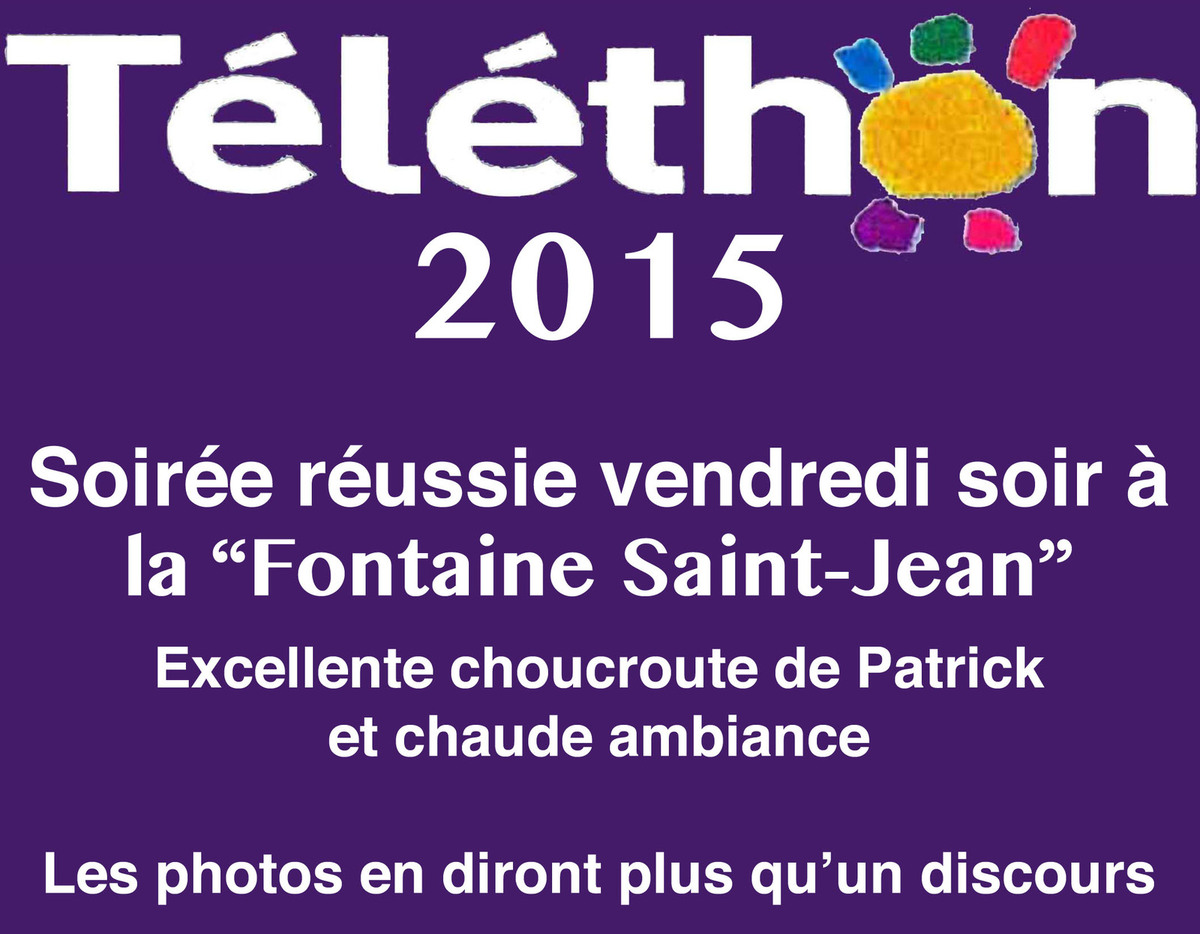 Téléthon à St Jean
