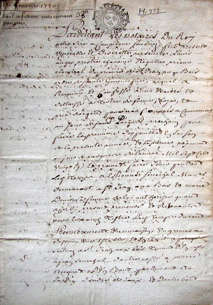 Bail d'Etienne Sébéchal