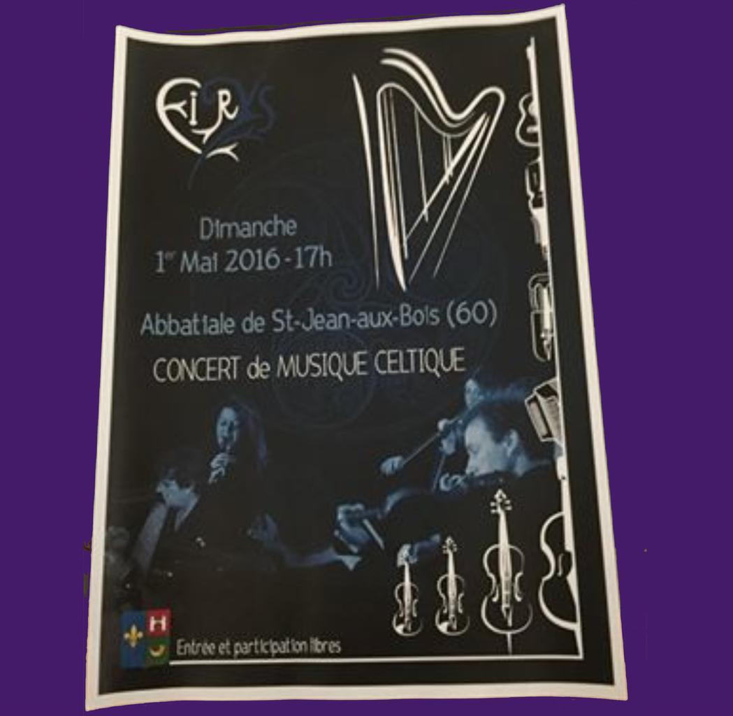 Concert celtique du 1er mai dernier
